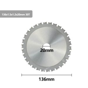 XCAN Metal Cutting Disc 136 165mm Carbide Tipped Saw Blade for Iron Steel 30 40T Circular Metal Cutting Blade