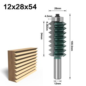 "12 Shank Raised panel""V""joint Bits Finger Joint Glue Milling Cutter for Wood Tenon Woodwork Cone Tenon Milling Tenoning Machine"