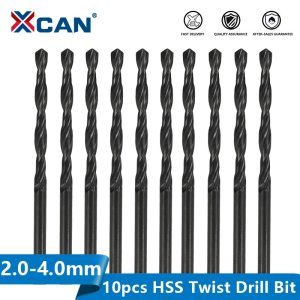 HSS Drill Bit 10pcs 2.0-4.0mm Nitride Coating Wood Metalworking Tool Hole Cutter Gun Drill Bit Twist Small Drill Bit