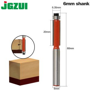 "1pcs 6mm"" Shank Flush Trim Router Bits for wood Trimming Cutters with bearing woodworking tool endmill milling cutter"