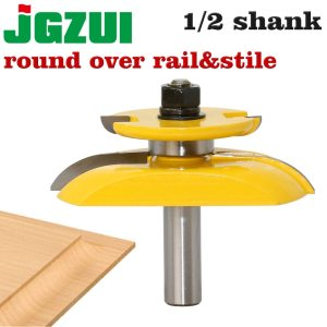 "1/2"" Shank 12mm shank Round Over Rail & Stile with Cove Panel Raiser 1Bit Router Bit Set Tenon Cutter for Woodworking Tools"