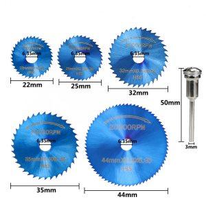 XCAN 1 Set Mini Saw Blade Nano Blue Coated HSS Cutting Disc for Dremel Rotary Tools Wood Metal Circular Saw Disc Blade