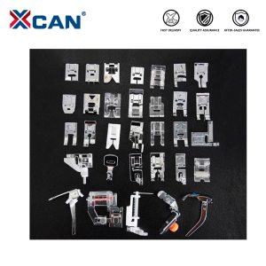 XCAN 32pcs Sewing Machine Foot Presser Feet Set For Brother Singer Janome Braiding Blind Stitch Darning