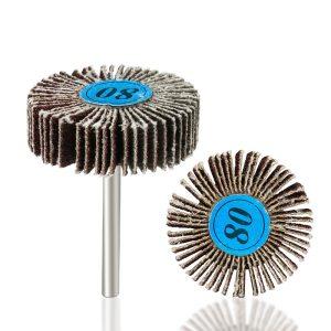 XCAN 80 Grit Grinding Sanding Sandpaper Flap Wheel Discs 3.0mm Shank Shutter Polishing Wheel For Dremel Rotary Tools