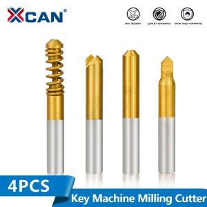 XCAN 4pcs Vertical Key Cutting Machine Cutter Locksmith Tools Key Machine Milling Cutter Cutter