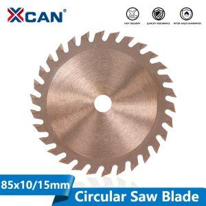 XCAN 1pc 85x10mm /85x15mm 24T 30T 36T TiCN Coated Wood Circular Saw Blade Mini TCT Saw Blade Carbide Tipped Cutting Disc