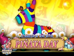 Double Down Happy Piñata Day FREE chips