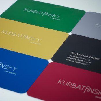 Visitenkarten aus Aluminium woohee