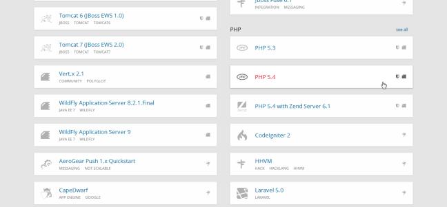 openshift-app-select