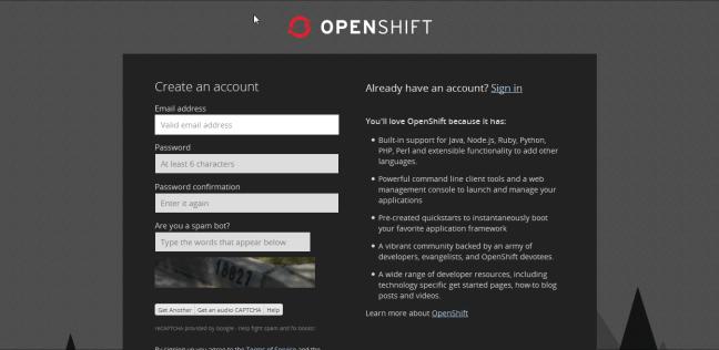 openshift-register