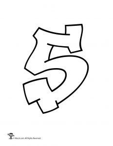 Bubble Graffiti Numbers : bubble, graffiti, numbers, Printable, Graffiti, Bubble, Letters, Alphabet, Activities
