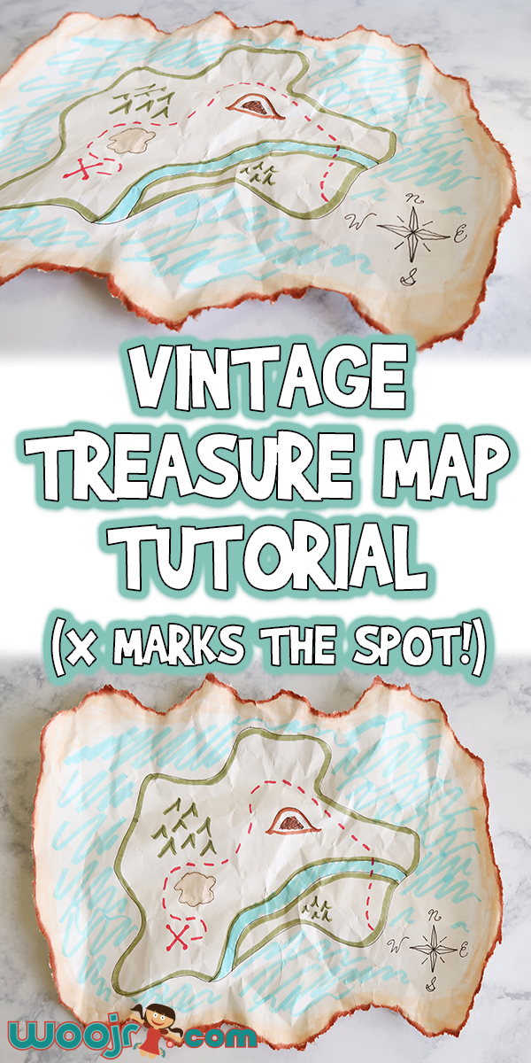How To Craft A Map : craft, Vintage, Treasure, Craft, Tutorial, Marks, Spot!), Activities