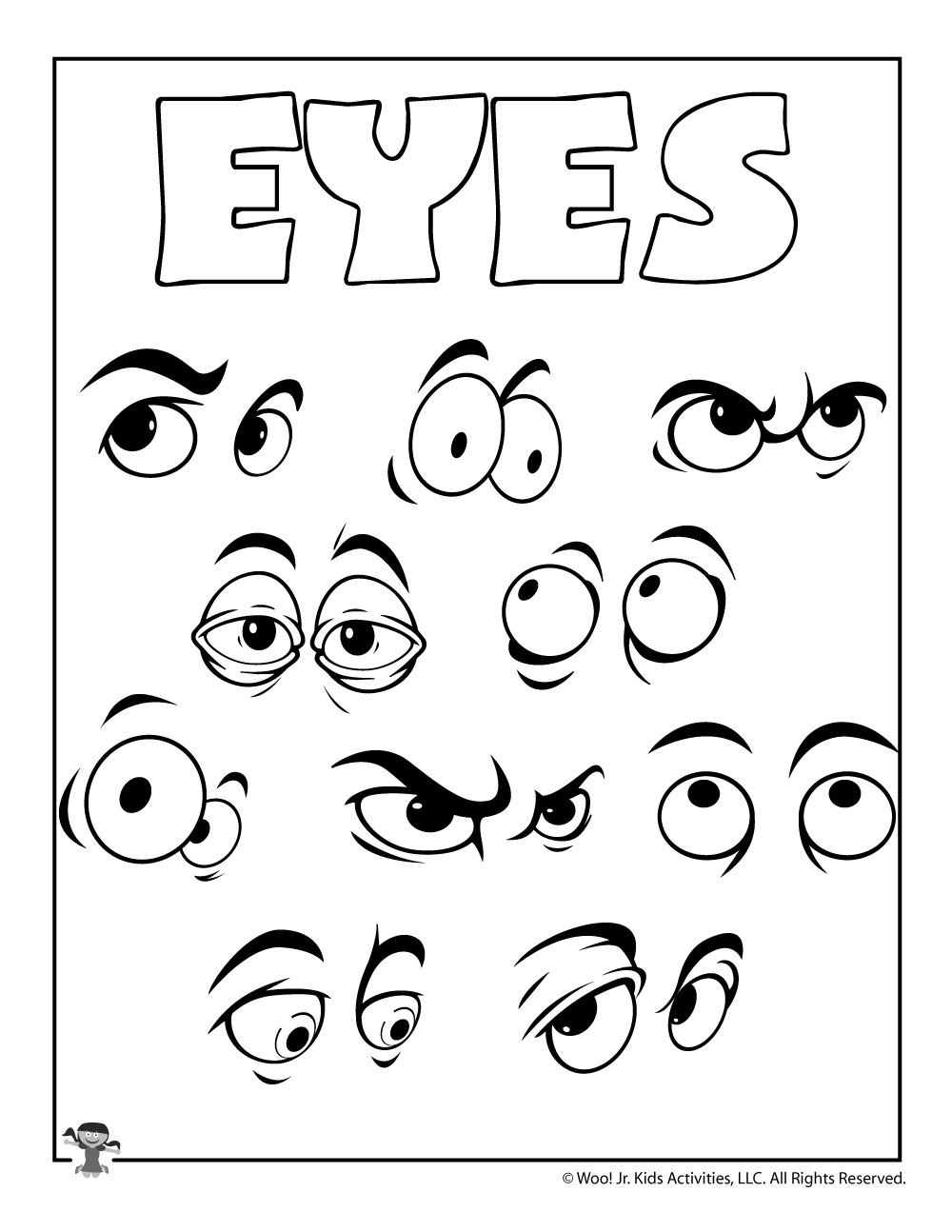 Eye Coloring Pages - Coloring Home