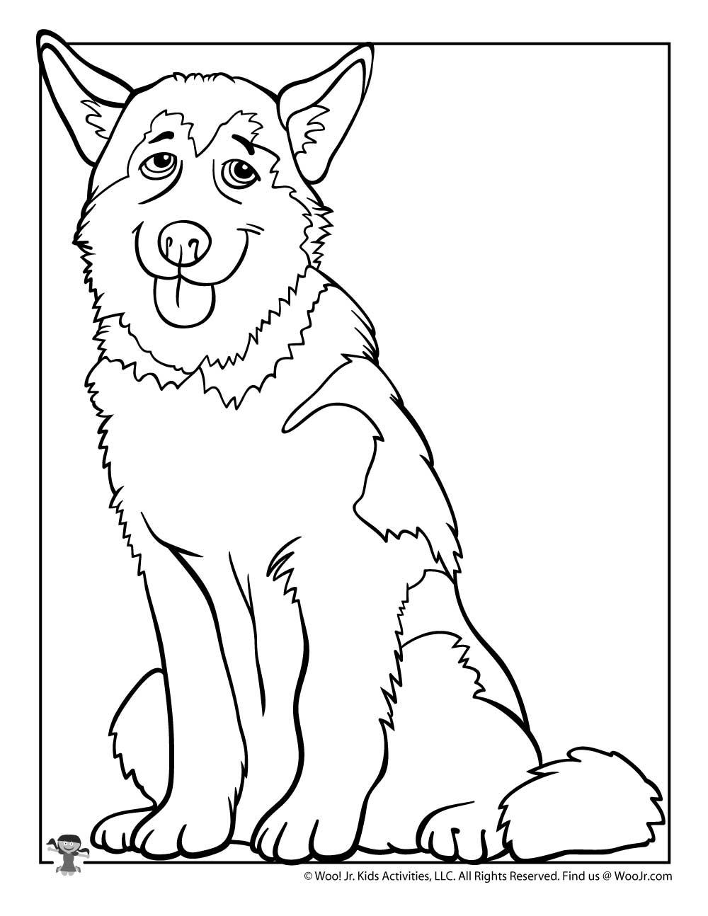 Husky Coloring Page : husky, coloring, Husky, Coloring, Activities