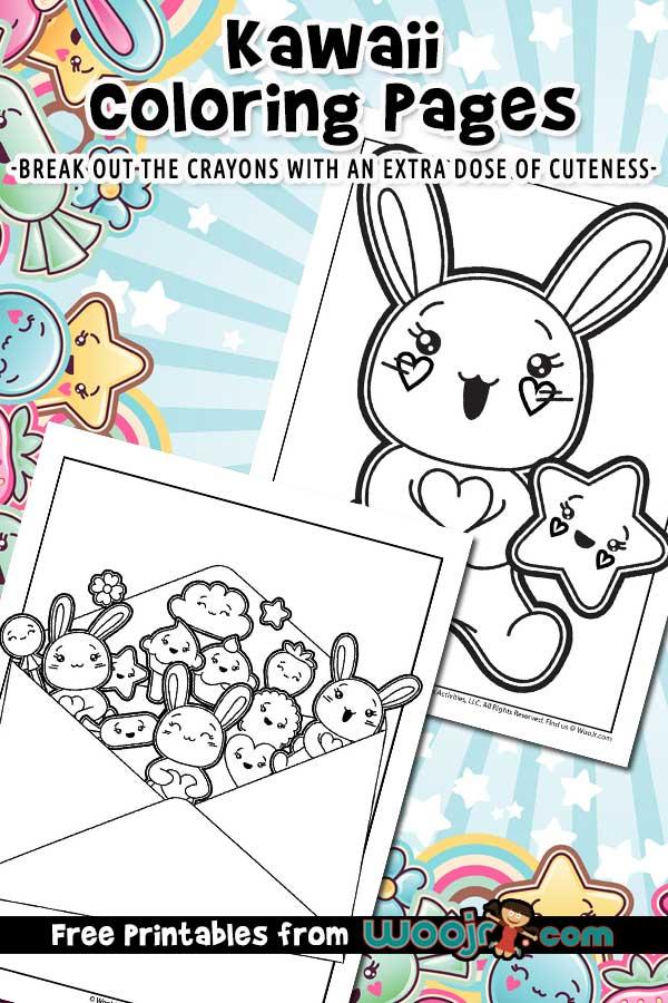 Cute Kawaii Cute Coloring Pages : kawaii, coloring, pages, Kawaii, Printable, Coloring, Pages, Activities