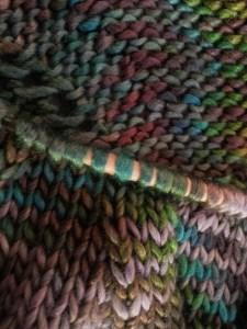 Knitting  Lan Su Garden cowl-3