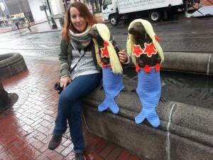 Yarnbombing in Portland