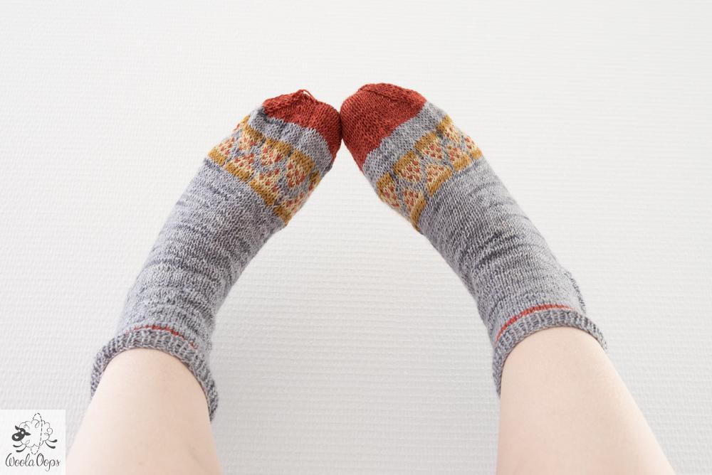 chaussettes tricotées à la main
