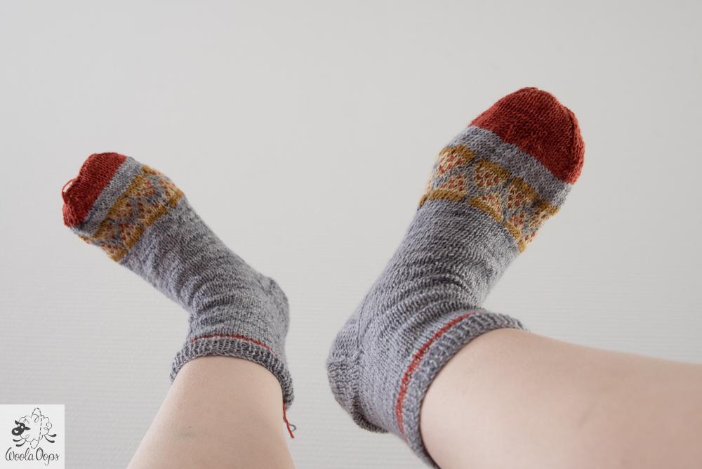 tricoter des chaussettes pizza