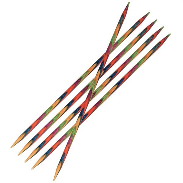Шкарпеткові дерев'яні спиці KnitPro Symfonie Wood 15 см