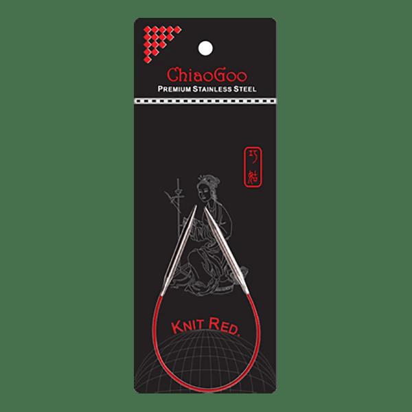 Металеві кругові спиці ChiaoGoo Knit Red 23 см