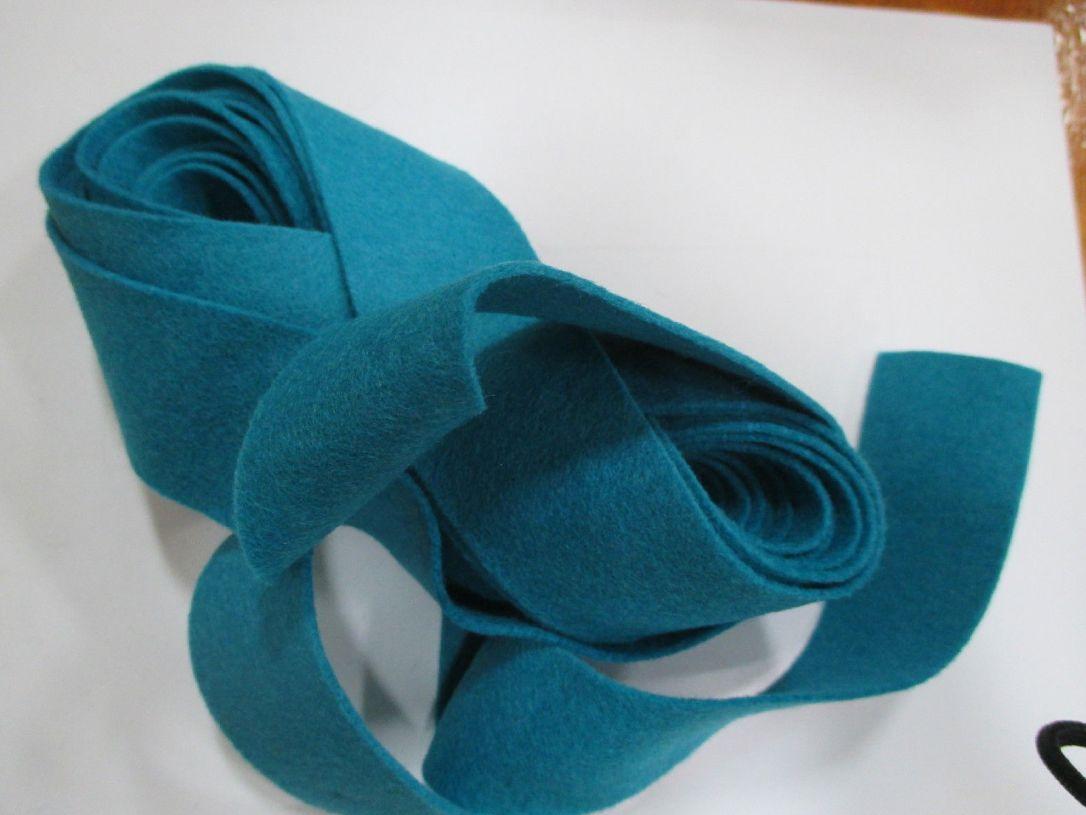 Turquoise felt binding