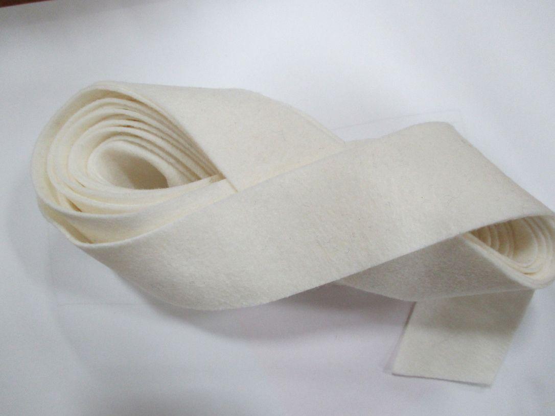White felt binding