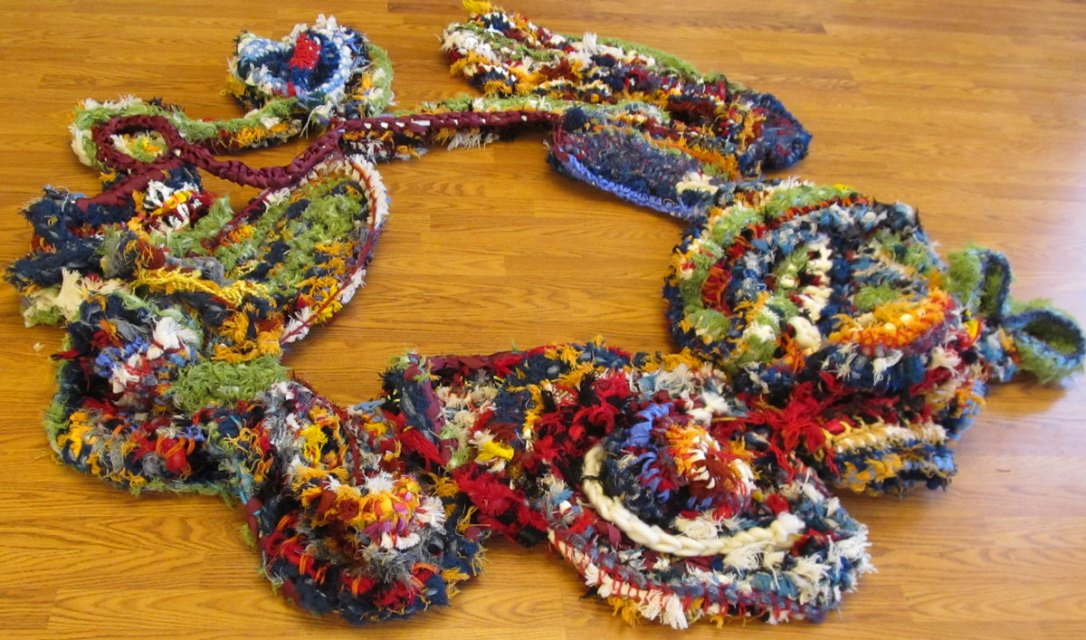 Wild and wooly freeform crochet from Bonnie Meltzer workshop.