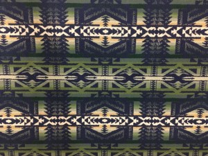 Shonto Wheatlands, green and navy Pendleton wool fabric