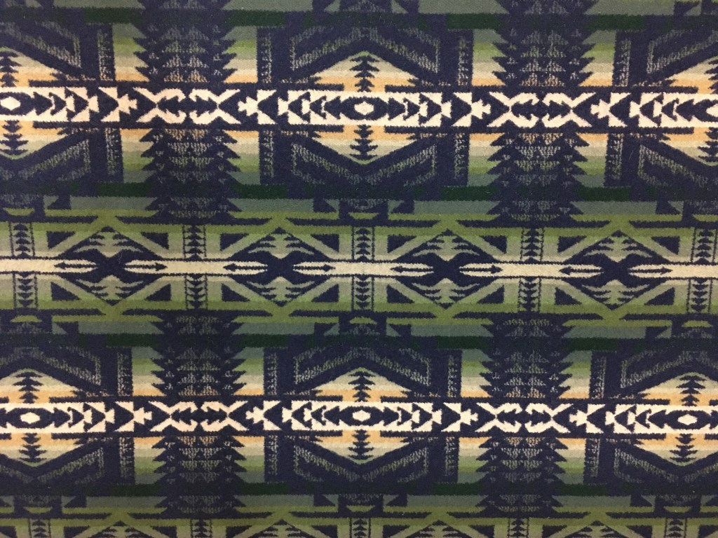 Shonto Wheatlands, green and navy Pendleton wool fabric