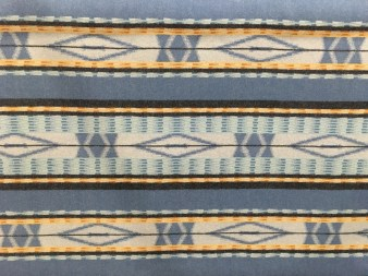 Pacific City Blue Pendleton wool fabric