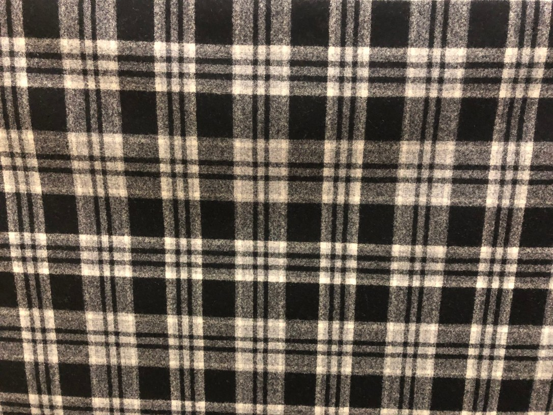 Black Grey Plaid 16016