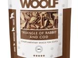 Snack Woolf Triángulos Conejo y Bacalao