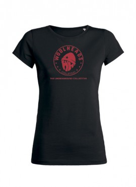 """Woolheads T-Shirt """"Vintage Red"""" Girl"""