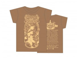 """Stoned From The Underground T-Shirt """"Girl brown"""" 2015"""