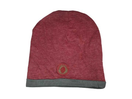 Woolheads Heather Summer Beanie wine melange/grey
