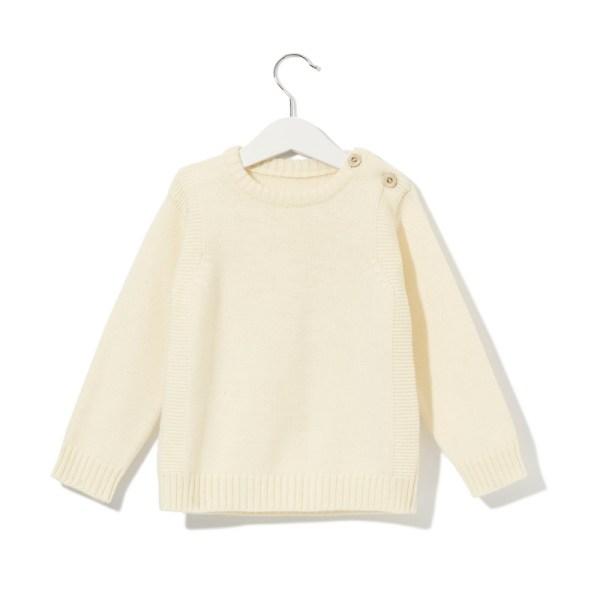 Sweterek jasnobeżowy 001 | 003-W-SW-LBE | www.wooliesandco.pl | shop online