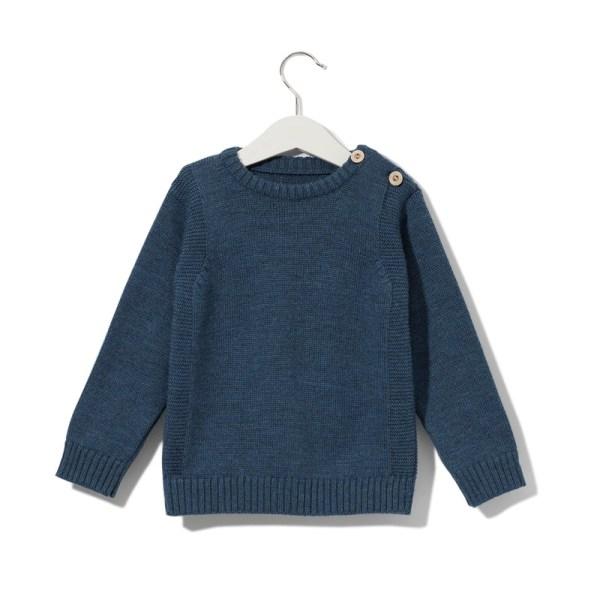 Sweterek granatowy 001 | 001-W-SW-NBL | www.wooliesandco.pl | shop online