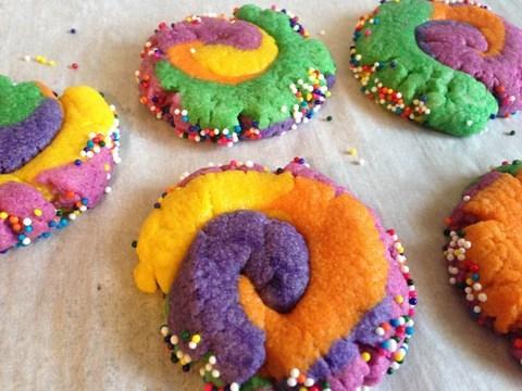 Biscuits multicolores de licorne