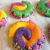 Biscuits multicolores de licorne wooloo