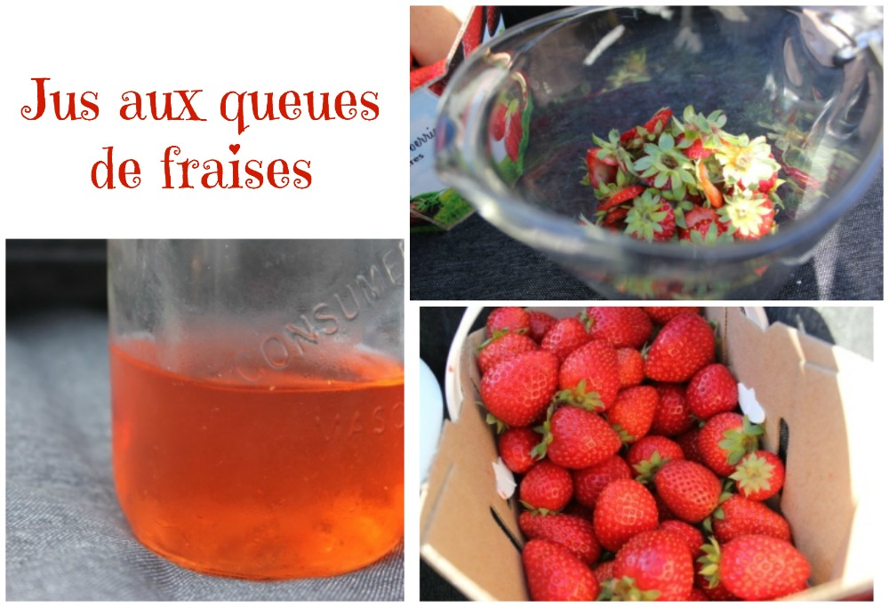 Du jus de queues de fraises