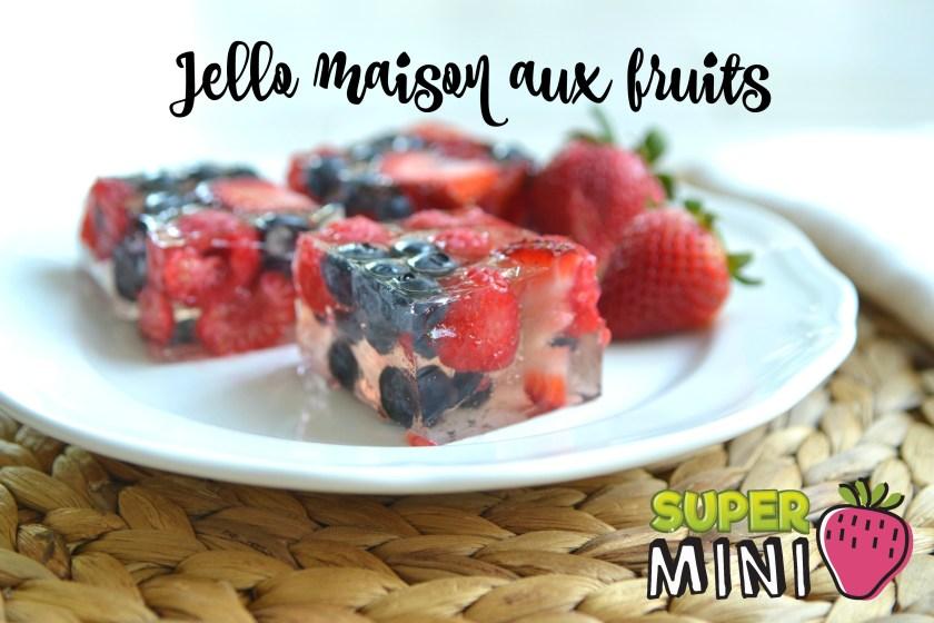 Jello maison aux fruits super mini