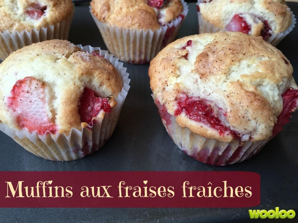 Muffins aux fraises fraîches