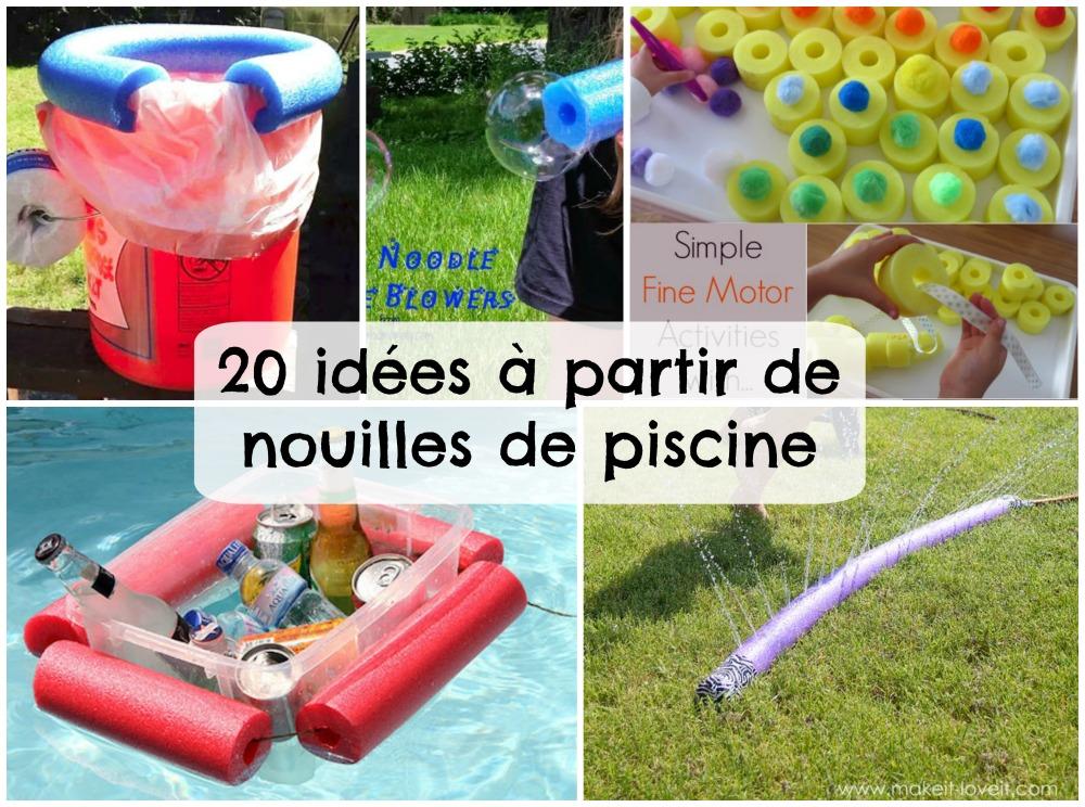20 idées à partir de nouilles en mousse pour piscine
