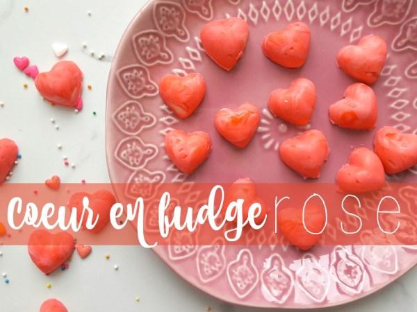 Coeurs en fudge rose