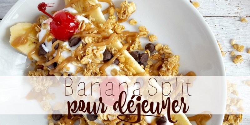 Banana split pour déjeuner