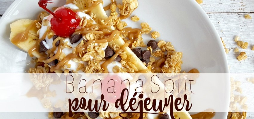 Banana split pour déjeuner wooloo