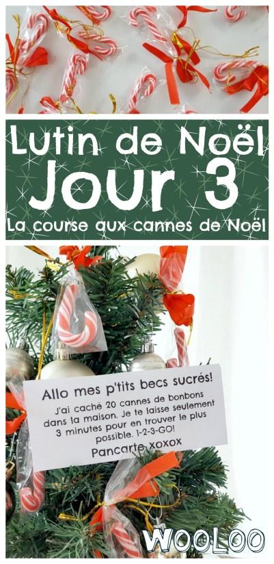 course aux cannes de bonbons / wooloo