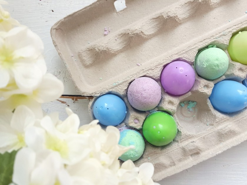Bombes de bain cocos de Pâques