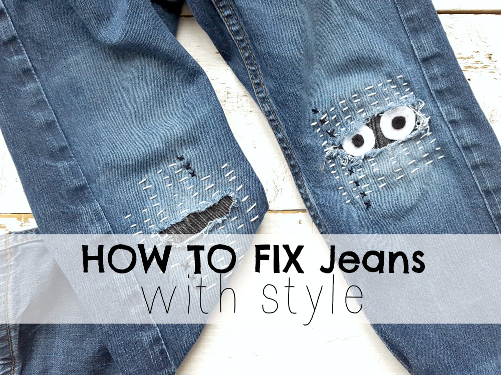 How to fix Jeans with style
